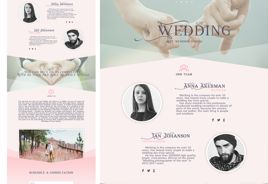 PSD template wedding agency