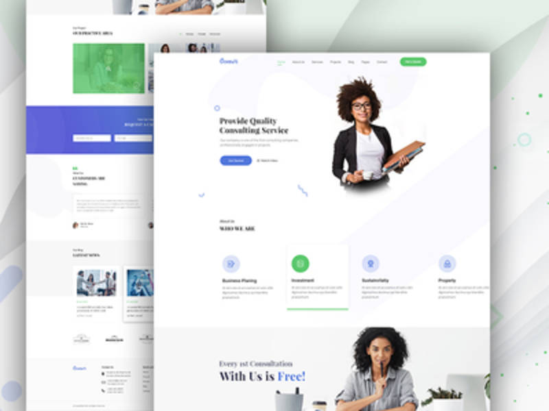 CONSULT - BUSINESS CONSULTING LANDING PAGE